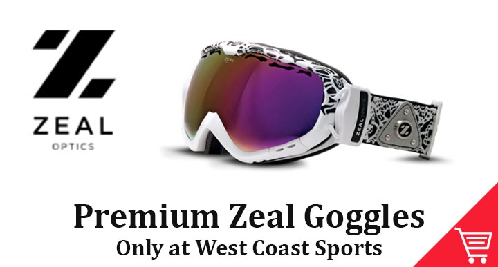 Zeal Goggles Only Available at West Coast Sports
