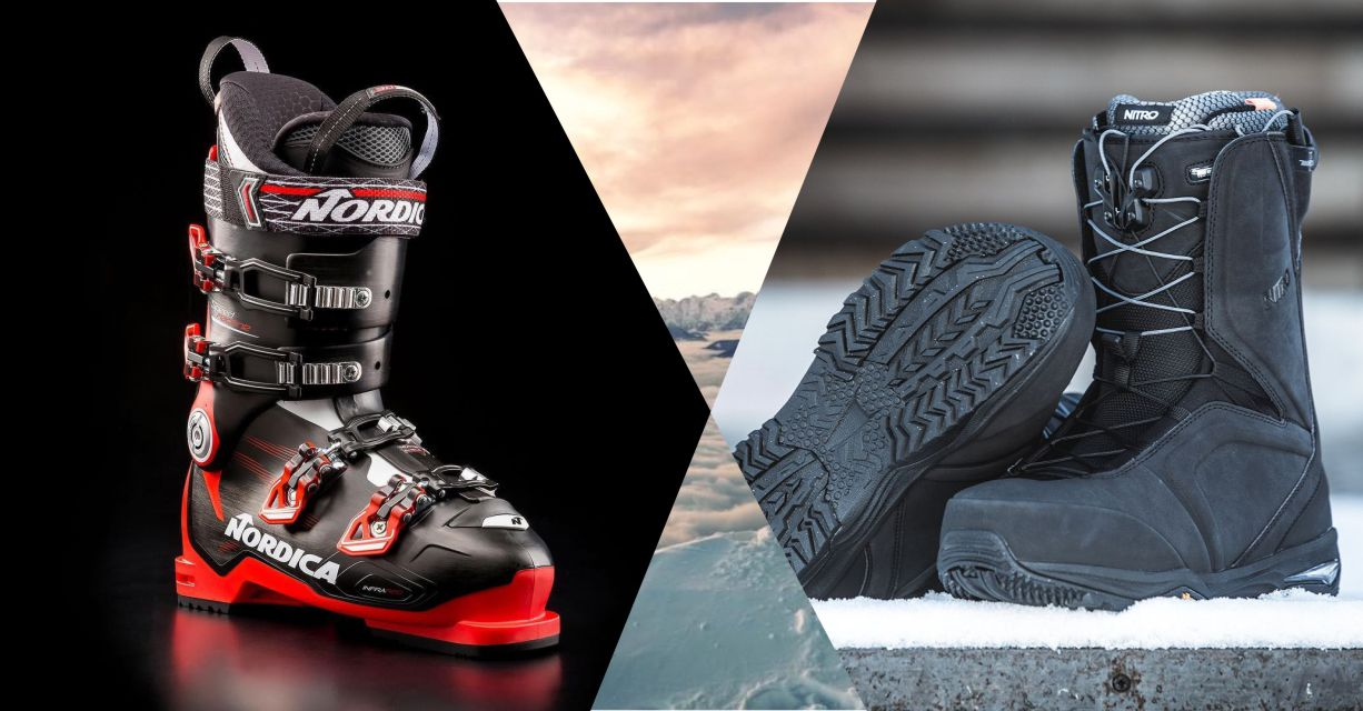 Ski boots and Snowboard boots